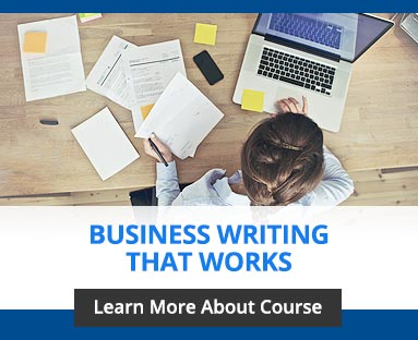 business writing training certification