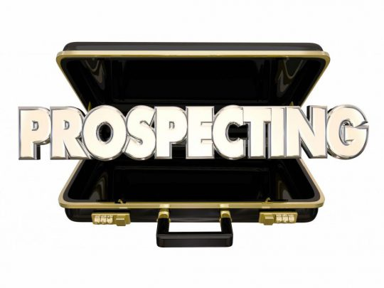 Prospecting Find New Customers Sell Sales 3d Words Briefcase